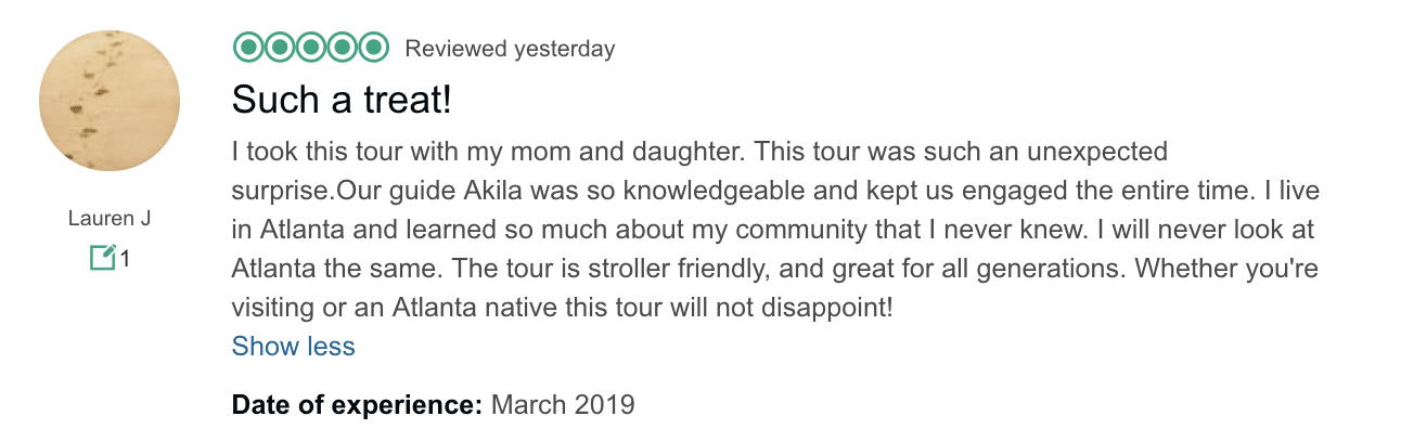 Martin Luther King tour review
