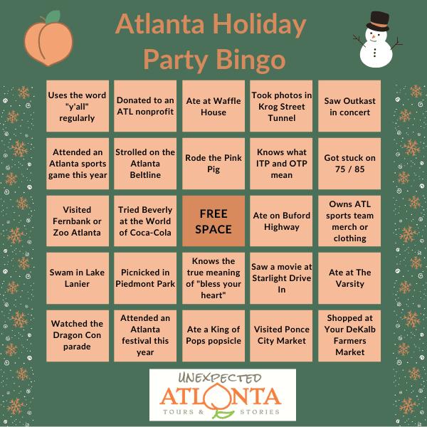 Atlanta Holiday Party Bingo