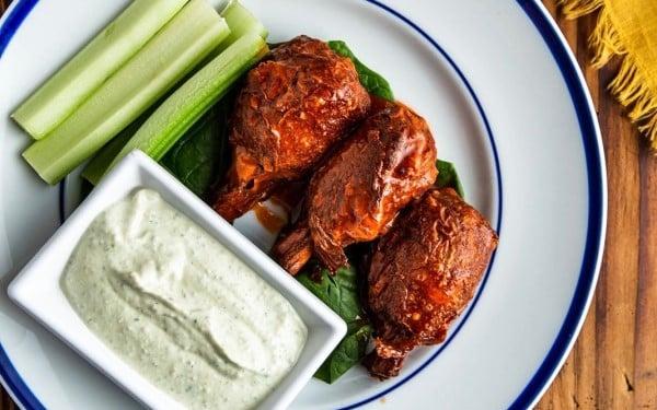Cafe Sunflower Buffalo Lollipops Best Vegetarian Restaurants in Atlanta
