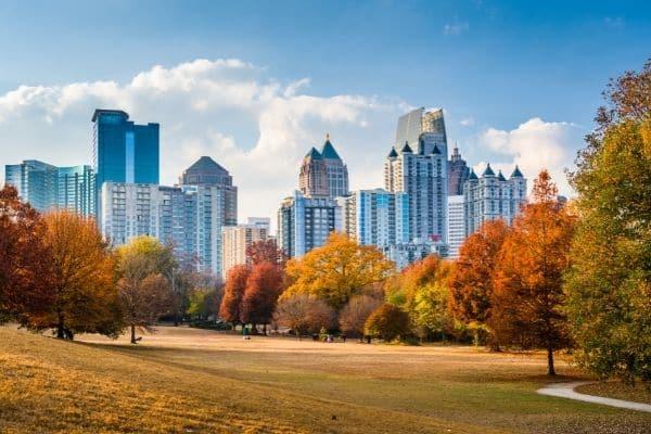 Atlanta Skyline Piedmont Park